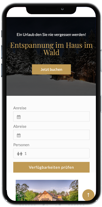 Mobil-optimierte Hotel-Webseite